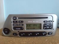 FORD KA 6000 CD RDS CAR STEREO RADIO CD PLAYER -WITH CODE £29.99 ITEM CAN BE POSTED.