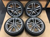 """Audi TTS Alloy Wheels with 245 35 ZR 19 Tyres - Genuine 19"""" RS Alloys"""