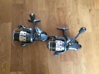 2 tfg carp fishing baitrunner reels