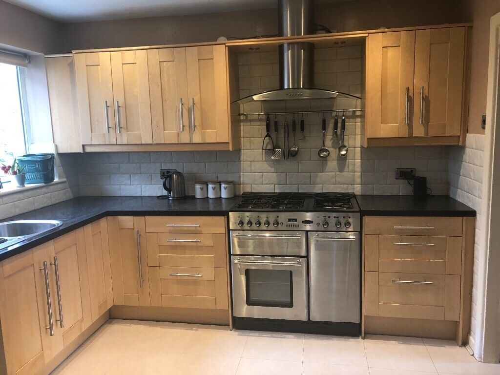 15 Unit Light Wooden IKEA Shaker Kitchen plus dishwasher and more | in  Marple, Manchester | Gumtree