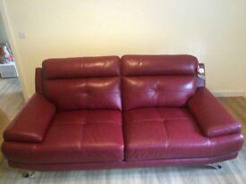 Genoa 3 Seater Leather Sofa
