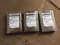 3x1TB Samsung hard drive