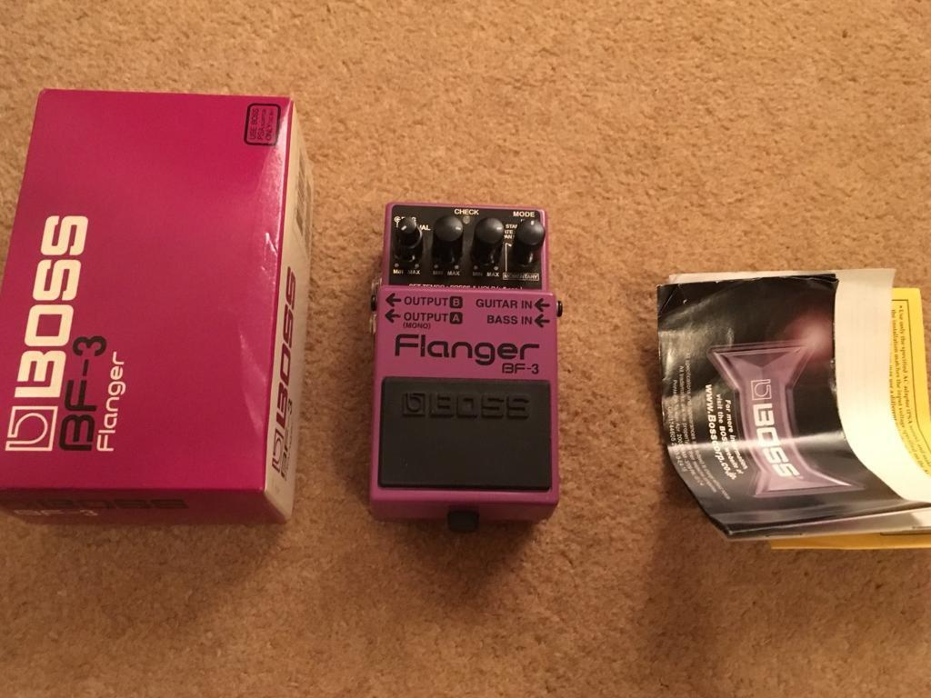 Boss BF-3 Flanger pedal. Complete.