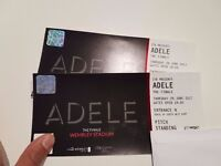 Two tickets for Adele's show, Thursday, £100