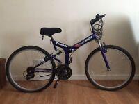 """Folding Mountain Bike Tornado Challenge 18 gears 26"""" wheels"""