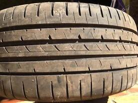 Goodyear eagle f1 tyre. 245x35xR18 run flat.