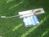 WEED BURNER WITH GAS CANS £25