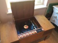 HMV Stereogram/ Radiogram/ Record player c1970s. Not working properly. Nice project
