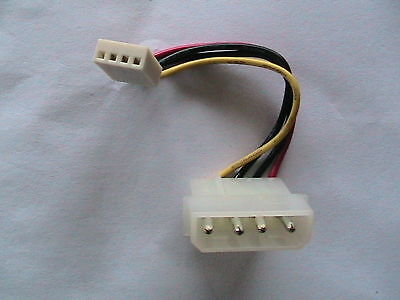 """PC POWER SUPPLY ADAPTER CABLE 3.5"""" floppy drive cable for sale  Ireland"""