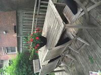 Beautiful outdoor teak dining table and 4 chairs