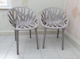 Vitra Vegetal chairs x 2 grey