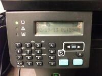 HP LASERJET M1212NF, MULTIFUNCTION FAX, SCAN, PRINTER COPIER, FOR SPARE OR REPAIR, SCANNER FAULTY.