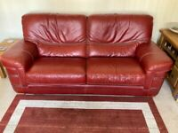 For Sale - Italian Leather Three and Two Seater Sofas.