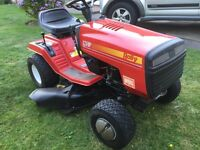 """Rally ride on mower, 36"""" cut, 12hp Briggs & Stratton engine. Excellent condition"""
