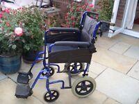 Days Manual Wheelchair. Blue .VGC. £25