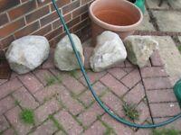 Decorative Garden Stones x 4