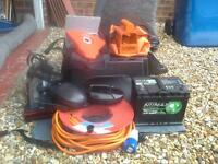 leisure battery, t.v.with dvd, hitch& wheel locks,15metre cable & reel, mirrors, gro6nd sheet, step.
