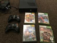 Xbox 360 250gb with 2 controllers 4 games