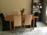 Extendable Dining Table and 6 chairs for sale