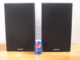 Vintage Sharp HiFi Speaker cabinets -Two way speaker system