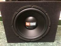 """JBL and Sony 12"""" Subwoofer with 2x JBL Amps-Car, Audio, Amplifier, Bass, Sound System"""