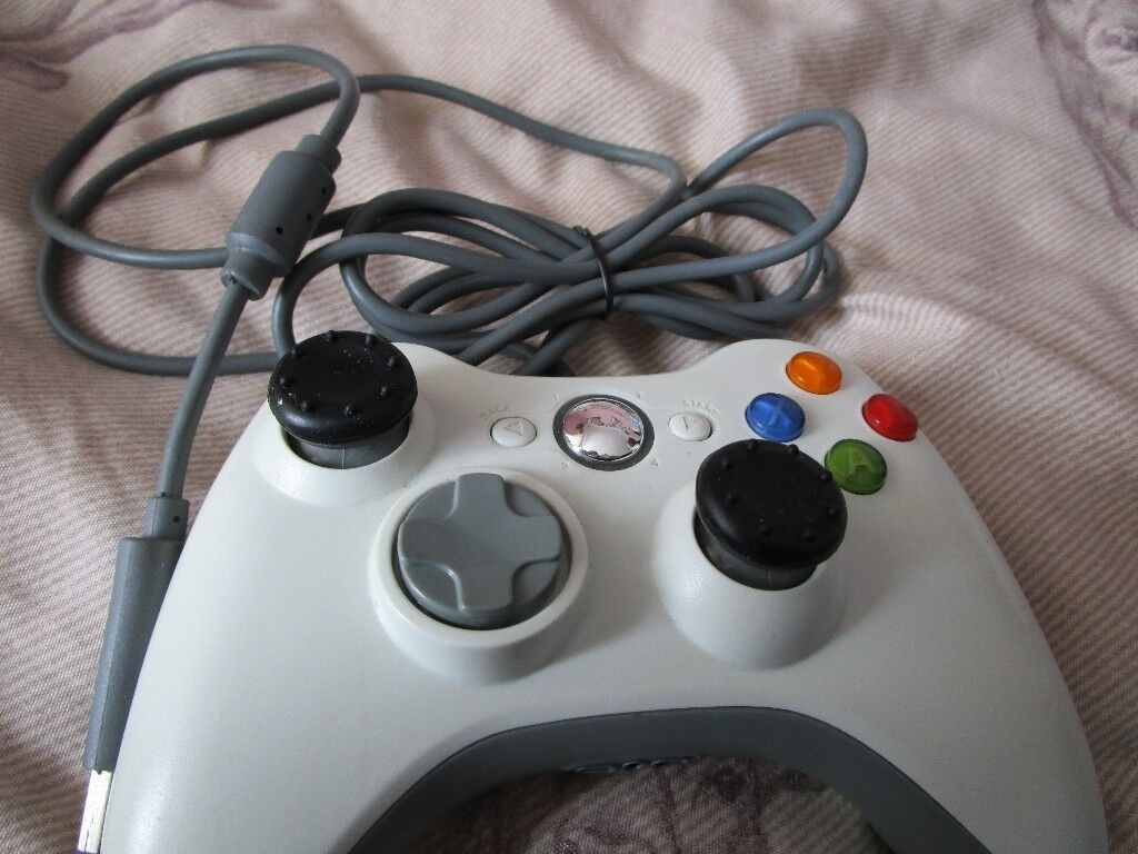 Microsoft Xbox 360 White Wired Controller | in Sarisbury Green ...