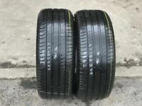 2 part worn tyres 225/50/17 MICHELIN PROMACY 3