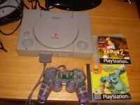 PLAYSTATION WITH GAMES