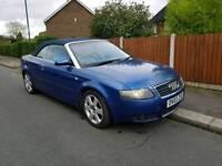 2003 Audi a4 1.8t. Convertible. Blue. Manual