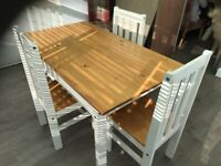Dining Room Table & 4 Chairs (Table can seat 6 if needed)