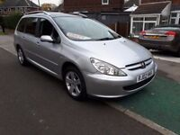 ** 7 SEATER ** 02 REG PEUGEOT 307 SW 2.0 SE ESTATE 7 SEATER MPV