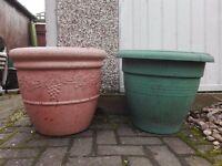 Large 45cm Round Planters Plastic Garden Pots