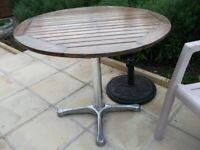 Hardwood Patio Table