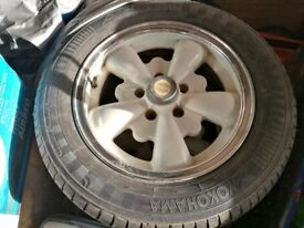 VW Bay window empi alloy wheels