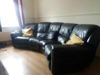Electric recliner curved sofa