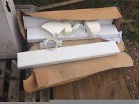 Cooker hood ducting kit, white PVC
