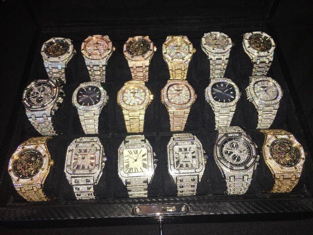 Audemars piguet automatic skeleton iced watch offshore Royal Oak diamond |  in Birmingham City Centre, West Midlands | Gumtree
