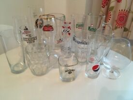 Collection of beer/drinking glasses