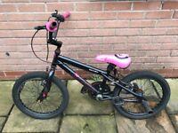 Kids Girl Used BMX Black/Pink Bike with pegs
