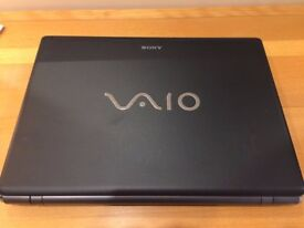 Sony Vaio Wireless Laptop, Dual Core Windows 7 With Carry Case, As new Condition