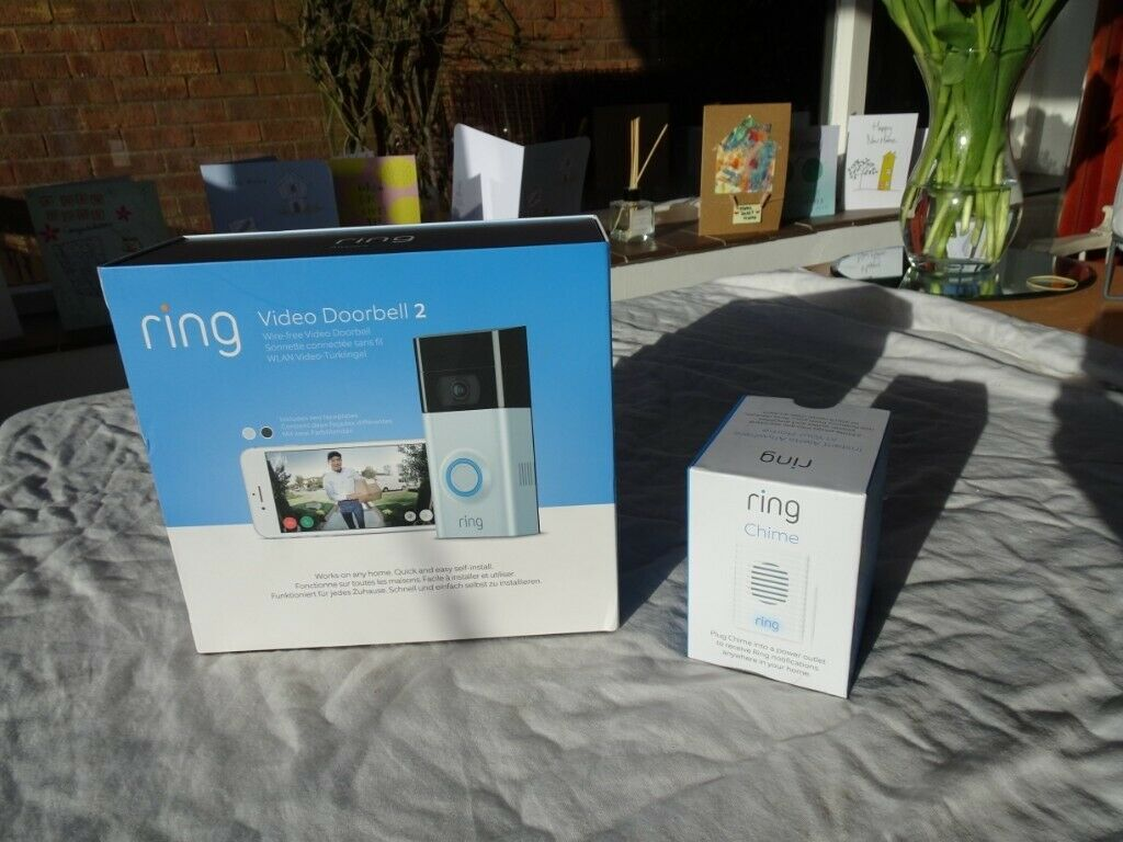 Ring Full HD 1080p Video Doorbell 2 with Chime,Brand New