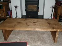 Small Rustic Handmade Coffee Table Made From Reclaimed Timber