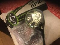 Callaway Epic Sub Zero 15 Degree 3 Wood brand new