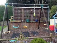 Plum swing see saw trapeze