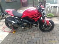 Ducati Monster 821 Stripe,11°Testasreta engine,Ducati Safety Pack, ABS,Traction Control,Datataged