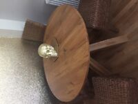 Next Solid Oak Dining Table, 4 Rattan Chairs, TV Unit, Coffee Table - Bundle £200