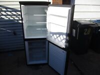 Fridge freezer, 22 inch wide Black Bush fridge freezer, very clean.