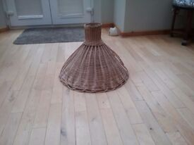 Retro Large Wicker Lampshade