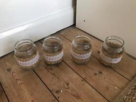 jars for rustic wedding theme