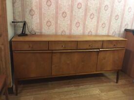 Vintage Retro Long Console Cabinet Dresser Unit